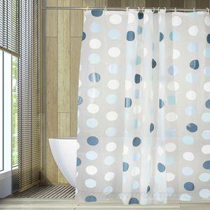 PEVA Badvorhang Rundes Formmuster Duschabtrennung Vorhang Wasserdicht Dusche Duschvorhang  #8