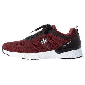 Rieker Herren Schnürschuhe Halbschuhe Sneaker B9800, Größe:43 EU, Farbe:Rot