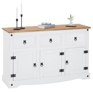 Anrichte Sideboard CAMPO Kiefer massiv mit 3 Schubladen und 3 Türen in weiß