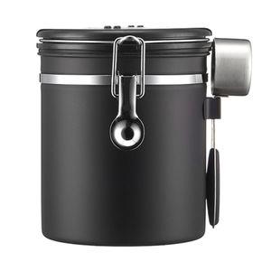 Kaffeedose Luftdicht 1.5 litre Kaffeebehälter Edelstahl Aromadose Vorratsdose Kaffeebohnenbehälter Aromadicht Vakuum Kaffeebox