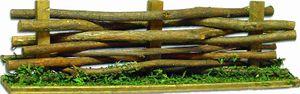 Krippenzubehör Zaun Lattenzaun Holzzaun Weidenzaun Länge ca.14cm