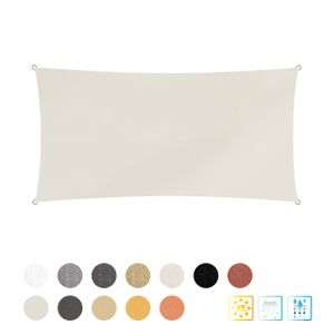 Lumaland Sonnensegel Polyester Rechteck 2 x 4 Meter Elfenbein