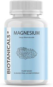 Magnesium Kapseln (120 Stück) - aus Sango Meereskoralle - Pflanzliches Magnesium. Optimales Calcium Magnesium Verhältnis (2:1), aus naturbelassener Quelle -  Germany