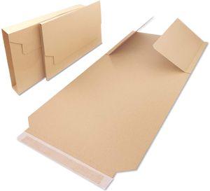 Verpacking 100 Universal Buchverpackungen BV 4 | 310x250x20-70 mm | DIN A4 passend | flexible Wickelverpackung | Groß & Maxibrief geeignet | Wickelkarton für DHL, DPD, Hermes, UPS, Deutsche Post