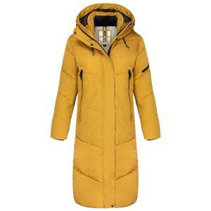 Khujo Damen Wintermantel, Farbe:gelb, Größe:XL