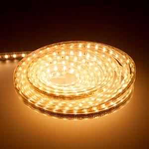 LED Lichtschlauch Leuchtstreifen 2m Warmweiß Partybeleuchtung Lichtstreifen Lichtband Lichtleiste Lichterkette Lichterschlauch LED Strip Stripe Beleuchtung für Aussen und Innen