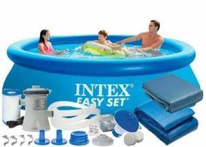 INTEX 28122 305x76 cm 7in1 Polbaby Set Pool Set mit Filterpumpe und Zubehör