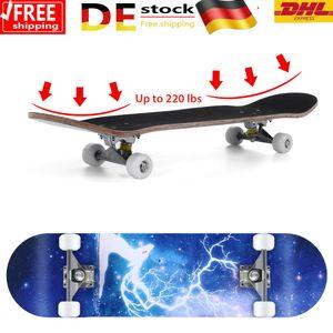 """31"""" Skateboard mit ABEC 5 Kugellager 79cm - PolyurethanDämpfer + PolyurethanRollen Komplettboard"""