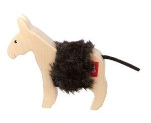 sigikid Cudly Wudly Holztier Esel, Holzfigur, Spielfigur, Holzspielzeug, Spielzeug, Dekoration, 39512