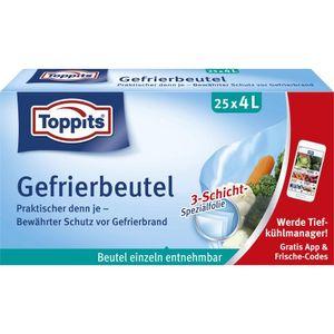 Toppits Gefrierbeutel Standboden 4l 25er