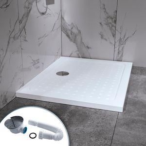 i-flair Duschwanne 90x120 cm, Duschtasse aus Sanitäracryl inkl. Ablaufsiphon