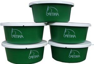 AMKA Müslischale Leckschüssel Futterschale 5er Set 5 Liter mit Deckel für Tiere, Pferde, Hunde usw., Farbe:lila