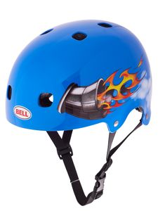 Bell Segment Fahrradhelm Radhelm Helm BMX MTB Inliner Skater Dirtbike, Größe:XS, Farbe:Blue