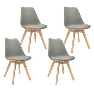 Ein Set mit 4 skandinavischen Küchen-Esszimmerstühlen im weißen skandinavischen Stil - skandinavischen Stil Skagen-89cm*44cm*42.5cm