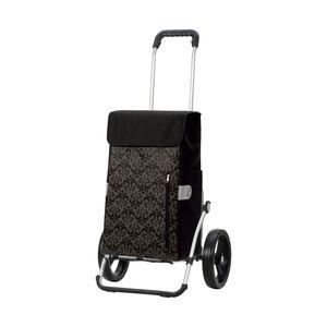Andersen Shopper Royal mit 3-Speichenrad 25 cm und 43 Liter Tasche Diva schwarz