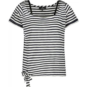 Monari T-Shirt Damen Shirt Größe 42, Farbe: 788 night blue Ringel