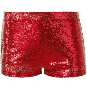 dressforfun Pailletten-Shorts - rot, S