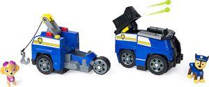 PAW Patrol 6056033 - Chases 2-in-1 - Split Second Polizeiwagen mit 2 Figuren