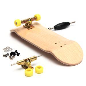 Holz Fingerboard Set Fingerskateboard Skateboard Montage Zubehör Spielzeug Junge Kinder Spielzeug, Beige