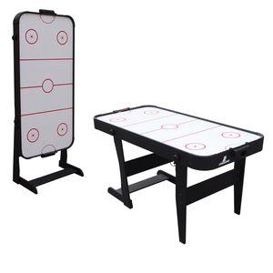 Cougar Icing Airhockeytisch 5ft - Klappbar   Airhockey Tisch inkl. Zubehör (Pucks & Pushers)   Airhockeytisch mit Luft für Kinder und Erwachsene für Zuhause