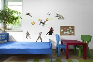 """Komar Deco-Sticker """"Star Wars"""", schwarz, weiß, grau, 50 x 70 cm"""