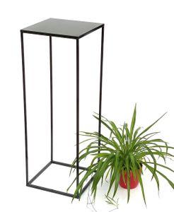 DanDiBo Blumenhocker Metall Schwarz Eckig 82,5 cm Blumenständer Beistelltisch 434 Blumensäule Modern Pflanzenständer Pflanzenhocker