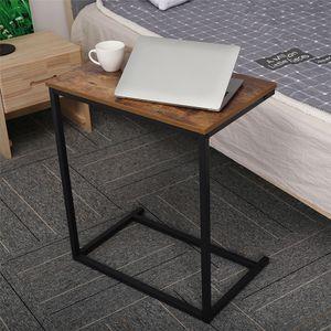 DouxLife DL-ST01 Notebooktisch Computertisch Laptoptisch 56x35x65cm C Form Metallrahmen Bett Sofa Tisch