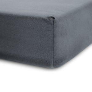 Lumaland 180-200x200-220cm Spannbettlaken für Boxspringbett und Wasserbett 100% Baumwolle mit Rundum-Gummizug Frostgrau