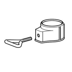 Delschen SB87099 Abschlußring mit 3-fach Adapter für Schirmstöcke Ø 26-44 mm, weiß