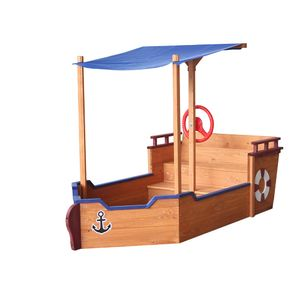 HOME DELUXE - Sandkasten Matschekiste Kinderspielzeug Sandspiel abdeckbarer Sandkasten
