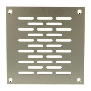 Aluminium Lochblech 100x100mm F1 Lüftungsgitter Lochung 20x3mm silber eloxiert