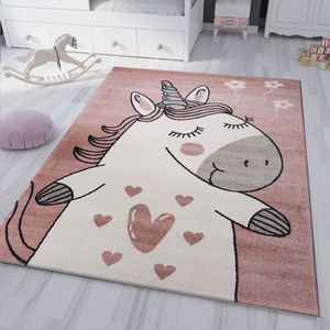 kinderzimmer kinderteppich Pony Einhorn Teppich Flauschig für Kinderzimmer Spielzimmer, Maße:120x170 cm