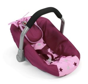 Sieglinde Bayer Puppen-Autositz pink Sterne