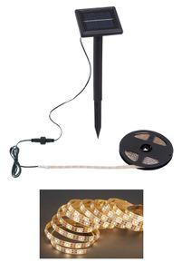 Außen LED Band 3m mit Solar-Panel IP65 Plastik Schwarz 36W Briloner Leuchten