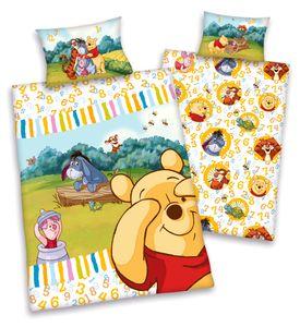 Disney´s Winnie the Pooh Flanell Baby Bettwäsche 40x60cm + 100x135cm