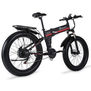 Flatbar Elektrisches Bike Fahrrad Herren-Mountainbike 4.0 Fetter Reifen Schnee Fahrrad E-Bike Ebike