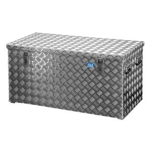 ALUTEC R250 L Aluminium Riffelblech Werkzeug Transportkiste 102,2 x 52,3 x 52 cm - R250 - 250 Liter