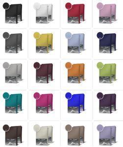 2er Set Jersey Spannbettlaken Spannbetttuch Baumwolle Topper Boxspringbett laken, Größe:180x200 cm - 200x200 cm, Farbe:Anthrazit