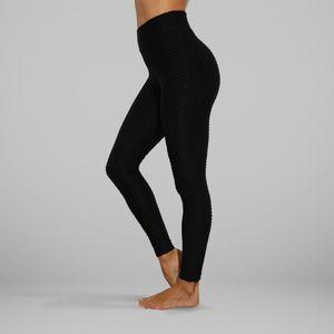 Leggings mit hoher Taille Push Up Leggins Sport Frauen Gym Yoga Hose Anti-Cellulite:SCHWARZ XL