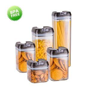 5er-Set Frischhaltedosen mit Deckel BPA frei Vorratsdosen Lebensmitteldosen, Milchpulverdosen, Trockenfrüchte-Dosen luftdicht & wasserdicht