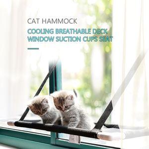 Katze Fenster Barsch Haengematte Bettkuehlung Atmungsaktiv Deck Fenster Saugnaepfe Sitz Katze Regale Sonnenbad Haengematte Bett fuer Katze halten bis zu 10 kg 22 ¡ê