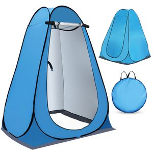 MECO Pop up Umkleidezelt Toilettenzelt, 1.5M Tragbar Camping Duschzelt Mobile Outdoor Privatsphäre WC Zelt Lagerzelt, Blau