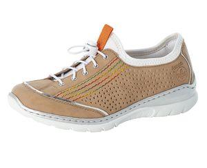 Rieker Damen Halbschuhe Sneaker Slipper L32Q5-60, Größe:38 EU, Farbe:Beige