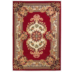 yocmall Orientteppich 140x200 cm Rot/Beige