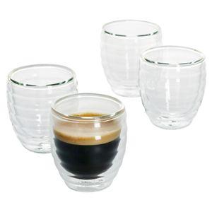 4er Gläserset Cesena Espresso-Glas 80-100ml hitzebeständig bis 150° doppelwandig Borosilikatglas