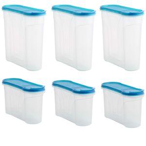 6er Set Schüttdose Vorratsdose Aufbewahrungsdose 3x 1,3 Liter & 3x 2,4 Liter Streudosen Frischhaltedosen Müslidose Lebensmittel Vorratsbehälter