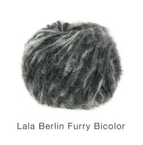 Lana Grossa - Lala Berlin Furry Bicolor - Fb. 106 grau/anthrazit 50 g
