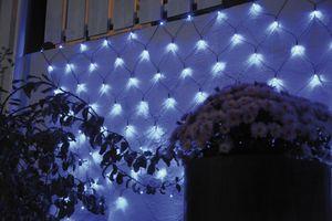 Best Season LED-Lichternetz, 180tlg., ca. 3 x 3 m Farbe blau, outdoor, mit Trafo, Kabel:schwar, 498-79