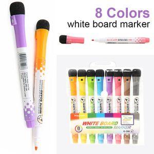 8 Stück Magnetischer Whiteboard-Marker Trockenlösch-Markierungsstift Löschbarer Whiteboard-Stift