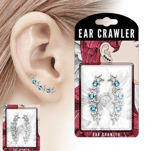 """Ear Cuffs Ohrklemmen Ohrringe """"Sterne"""", Farbe:Klar"""